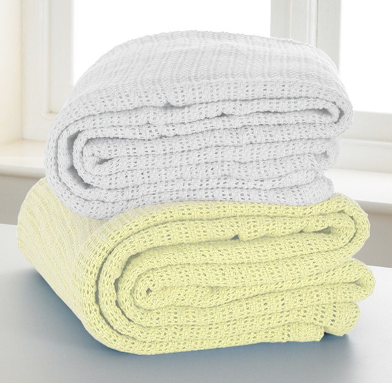Cotton Cellular Blanket Single Bed